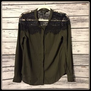 Romeo & Juliet couture sheer lace blouse